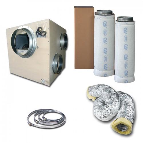 Kit aspiratore Insonorizzato + Filtro antiodore a carboni attivi Ø25CM - 5000 m3/h