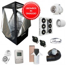 Kit Growbox completo 120x120x200 con AMARE SolarECLIPSE SE500 Full Cycle - Vegetativa e Fioritura (A)