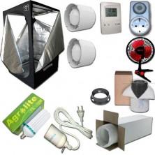 Kit Growbox 80x80x160 Economy con CFL Agrolite 200W White