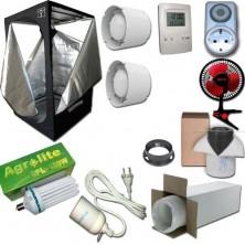 Kit Growbox 80x80x160 Economy con CFL Agrolite 250W White