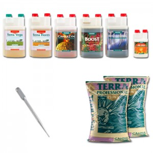 Kit Indoor Grower Pack 100x100 Canna - 6 piante