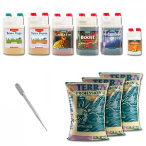 Kit Indoor Grower Pack 120x120 Canna - 8 piante