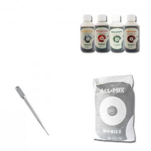 Kit Indoor Grower Pack 60x60 Biobizz - 3 piante