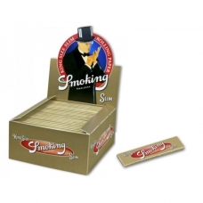 Box 50 pacchetti cartine Smoking Gold King Size
